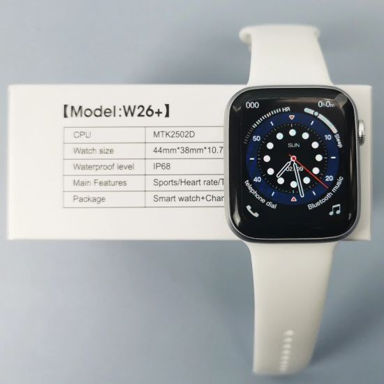 2021 Hot Sale W26+ Plus Smart Watch Smart Watch W26 Plus Serie 6 with Bt Calling IP68 Blood Pressure