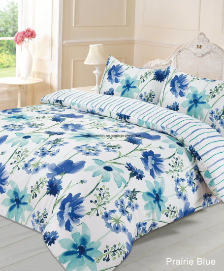 Confortable Bed Linen 4PCS Microfiber Bedding Set Printed Duvet Cover Pillowcases Set Wholesale