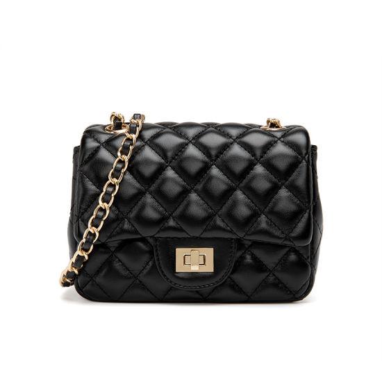 The New Diamond Chain Bag Handbags Fashion All-Match Temperament One-Shoulder Diagonal Bag Lock Bag