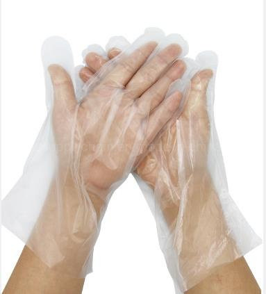 Disposable Protective PE Gloves with Transparent Material
