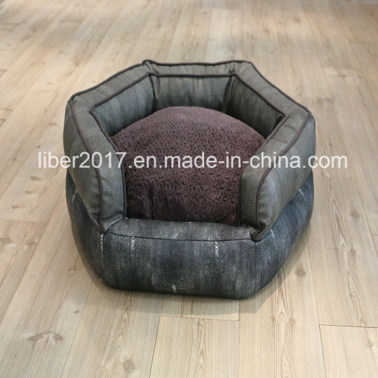 Pentagon Leather Pet Supply Luxury Pet Bed Sofa Bedding OEM