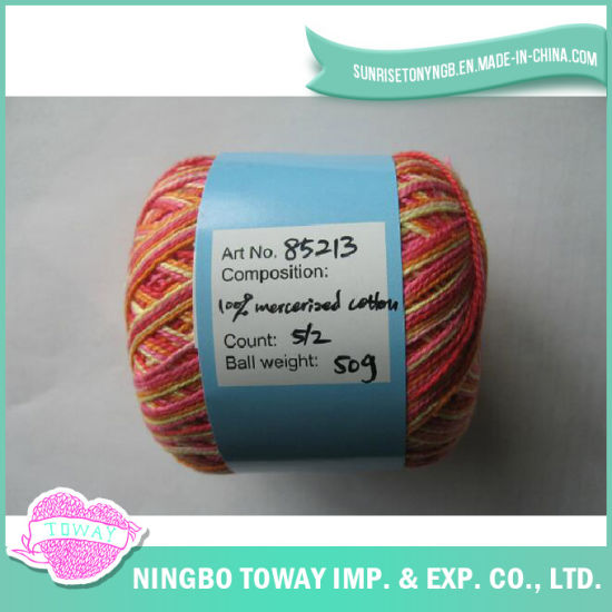100% Cotton Cross Stitch Thread Wool Knitting Fancy Yarn