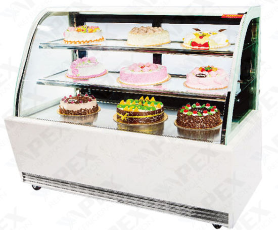 Supermarket Cake Refrigerator Display Showcase in High Quality pictures & photos