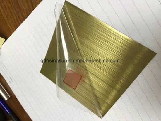 China Gold Hairline Stainless Steel Colored Sheet Metal Plate for ...