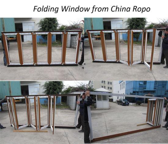 China Double Glazing Exterior Bifold Door, PVC Folding Door - China ...