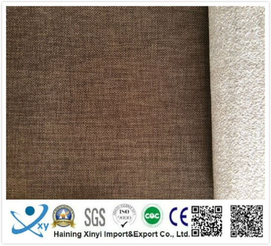 China 100 Polyester Outdoor Sofa Fabric Wholesale Faux Linen Fabric Sofa Furniture Upholstery Fabric China Sofa Fabric And Linen Fabric Price
