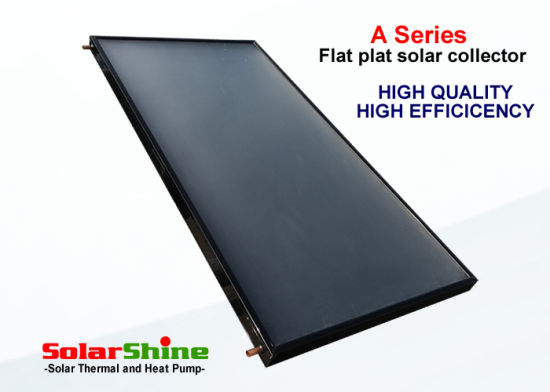 Flat Plate Solar Thermal Collector Panel Withselective Black Chrome Absorber Coating pictures & photos