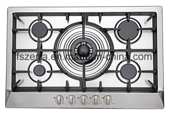 Household Appliance Blue Flame Gas Stove Gas Hob Gas Cooktop Jzs75006 pictures & photos