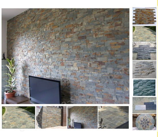 Honed Landscape Stones Cultural Stone Tiles for Wall Cladding Flooring