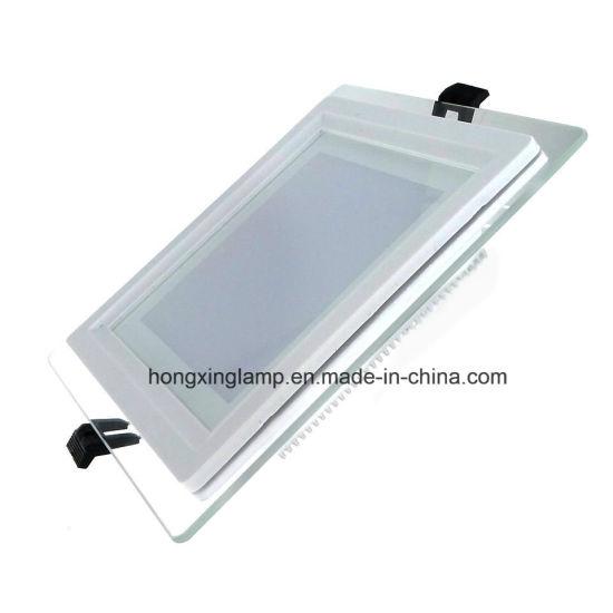 LED Downlight 12W Square Glass LED Panel Light