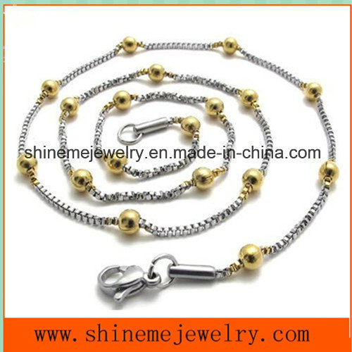 Hot-Selling Stainless Steel Bead Chain Fashion Jewelry Necklace (SSNL2631) pictures & photos