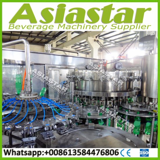 China Automatic Cola Water Bottling Plant CSD Soda Drink
