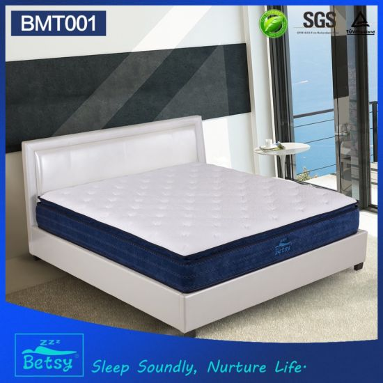OEM High Quality Dreamland Mattress 30cm High with Relaxing Pocket Spring and Massage Wave Foam Layer