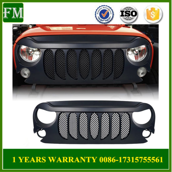 Seven Slots Front Net Bumper Grill for Jeep Wrangler 2007-2017