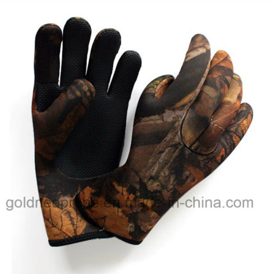 Neoprene Military Camo Hunting Gloves (GNHG) pictures & photos