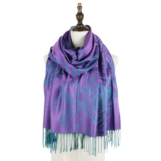 Jacquard Air Conditioner Elite Ladies High Quality Blanket Shawl/Scarf