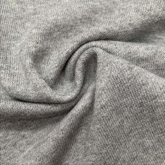 Light Weight CVC 65/35, 205GSM Melange French Terry Fabric for Fleece Clothes