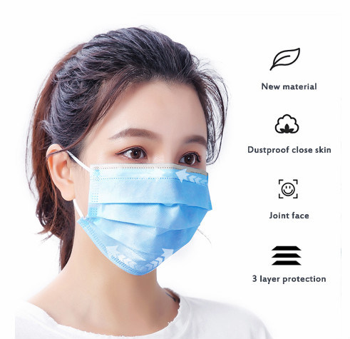 GB/T 32610-2016 Safety Face Mask 3ply Disposable Hygiene Facial Mask with Earloops for Adult pictures & photos