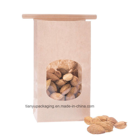 Bakery Bags, Brown Paper Bag, Tin Tie Tab Lock Bags pictures & photos