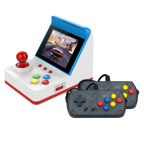 Retro Game Console A6 with 2 Joysticks Built in 360 Games Support TV Output Classic Mini FC Video Game Arcade for Party Kids