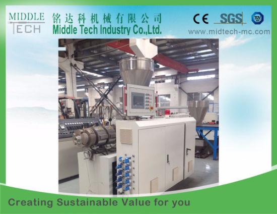 Conical Screw Extruder- Plastic PVC/UPVC Tube/Pipe Extrusion Machine