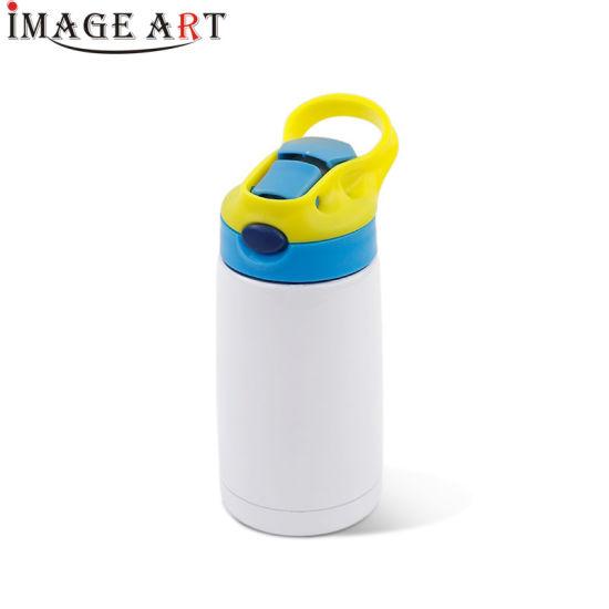350ml Heat Transfer Printning Sublimation Children's Vocuum Bottle/ Flask with Straw (Blue)