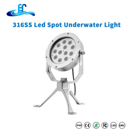 High Power 36watt 316ss Underwater Spot Lighting