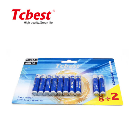 1.5V AAA Size Am4 Lr03 No. 7 Alkaline Battery No Rechargeable Battery OEM Accepted