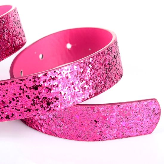 Girl′s Glitter PU Pants Barbie Belt (RS0506012) pictures & photos