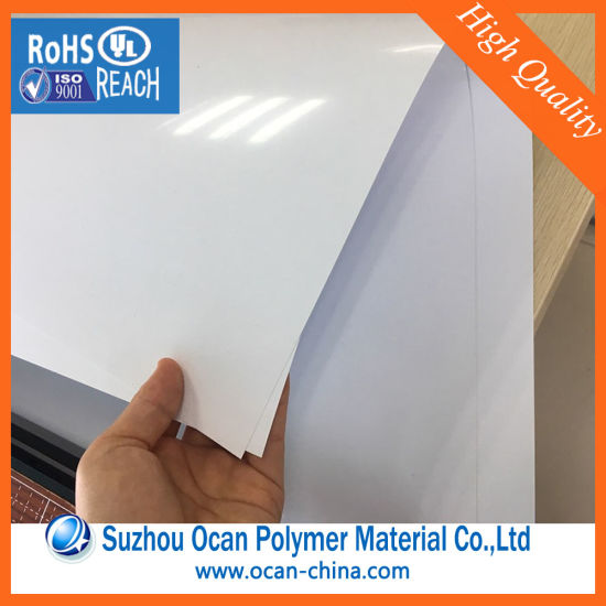 graphic regarding Printable Plastic Sheets named China Printable Plastic White PVC Strict Sheet for Price tag Tag
