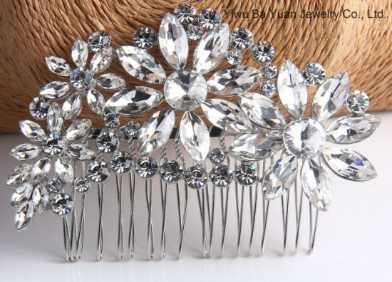 Wholesale Fashion Jewelry Wedding Hair Accessories Hair Comb Hair Ornaments  for Bride Promotion Gift