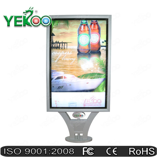 Outdoor Furniture Scrolling Backlit LED Strip Advertising Display Light Box Mupi