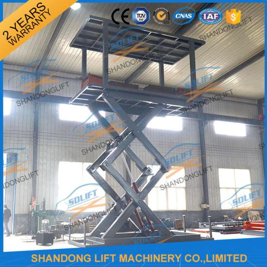 Stationary Electric Scissor Car Garage Lifting Equipment