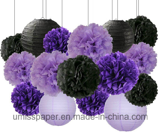 China Umiss Paper Lantern Paper Flower For Halloween Event Party
