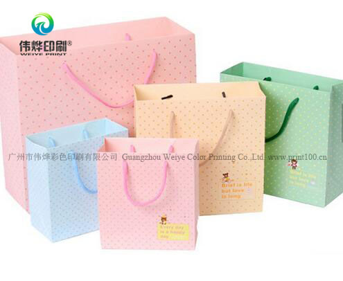 Lower Price Recycled Custom Printing Packaging Gift Paper Bag pictures & photos