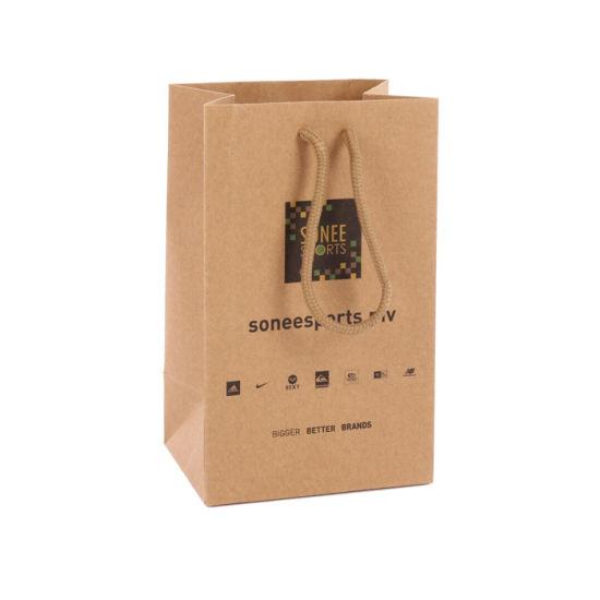 Wholesales Custom Logo Printed Cheap Gift Kraft Paper Bags