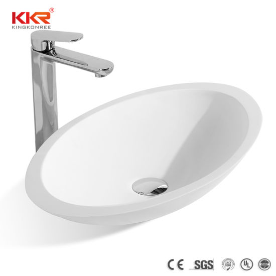 Factory Price Above Counter Corian Solid Surface Vessel Sink