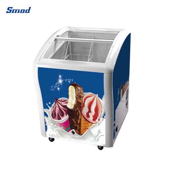 100L- 538L Ice Cream Display Sliding Glass Door Deep Freezer