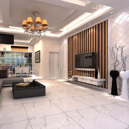 60X60 American Style Apartment Dining Room Polished Porcelain Tile