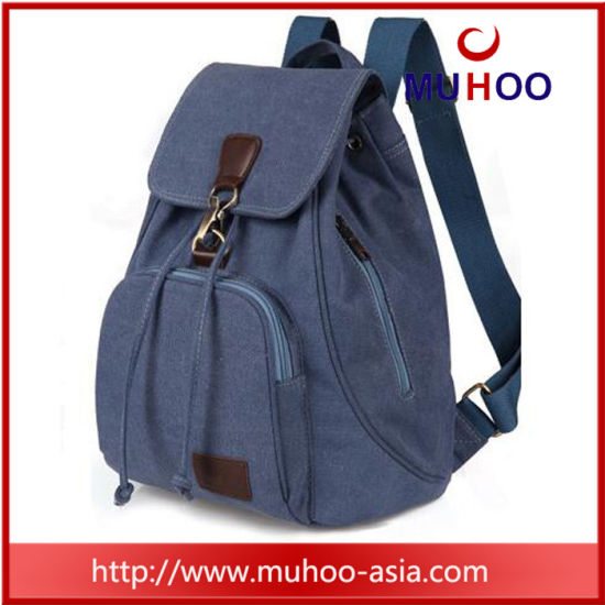13d18b4a6a Fashion Cotton Canvas School Bag Canvas Backpack for Girls pictures   photos