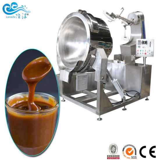 SS304 Electric Hot Pepper Chili Tomato Sauce Tilting Cooking Pot with Stirrer Gas Cooking Jacketed Kettle Cheap Price