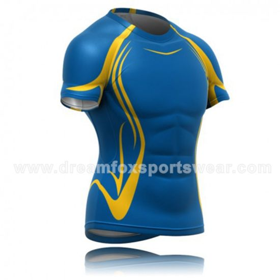 Best Sell Sublimation 100% Polyester Mens Rugby Jersey for Match pictures & photos