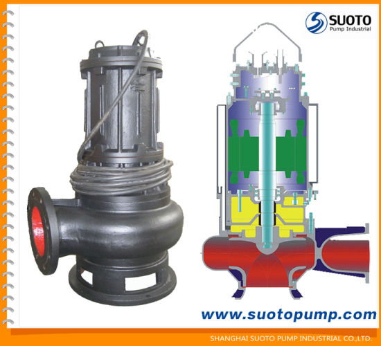 Non-Clog Waste Water Centrifugal Sewage Submersible Drainage Pump with Auto Coupling (WQ) , Deep Well Pump, Pond Pump, Garden Pump, Submerged Sump, Slurry Pump pictures & photos
