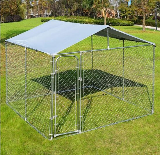 China Galvanized Steel Dog Kennels Hot Dipped Galvanized Dog Kennel With Roof China Pet Kennel And Dog Enclosure Price