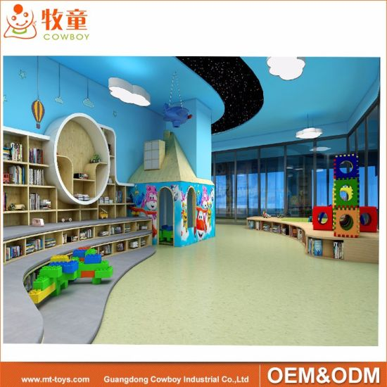 300 Sqm Library Center Furniture for School with Decoration