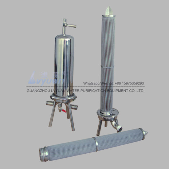 316L Screw Sediment Pleated Filter Micro Porous 20 Microns Stainless Steel Filter Rod with 10 20 30 Inch pictures & photos