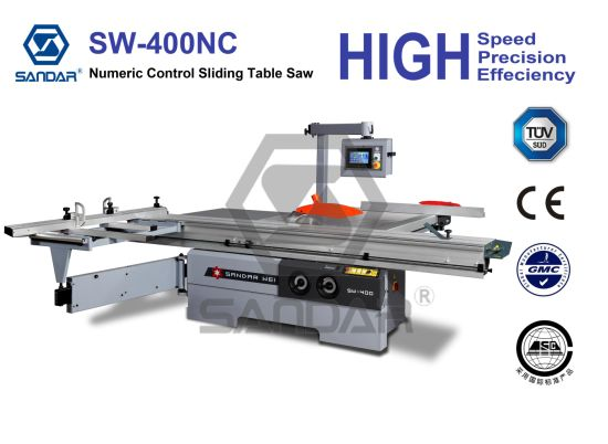 Numeric Controled Woodworking Panel Type Sliding Table Sawing Machine