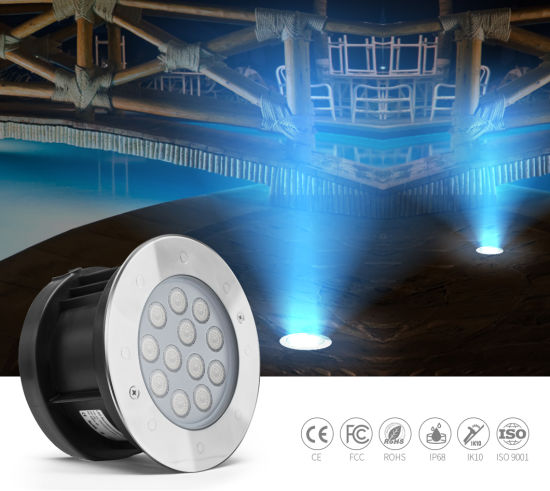 12W DC24V External Control 316L Stainless Steel LED Ground Light