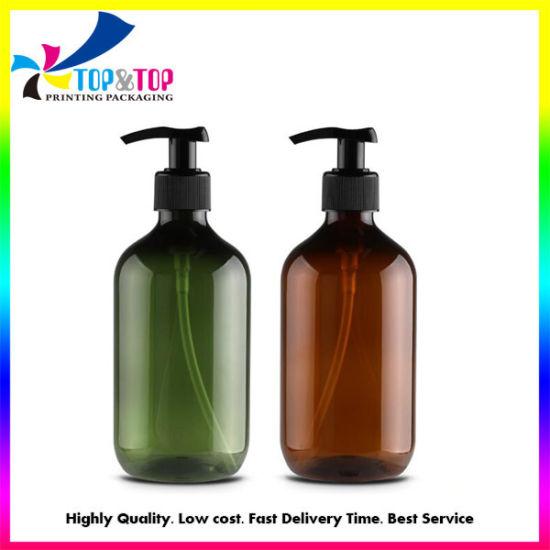 Custom Empty Semitransparent Pet Plastic Gel Hand Sanitizers Soap Shampoo Alcohol Disinfection Lotion/Spray Pump Bottle