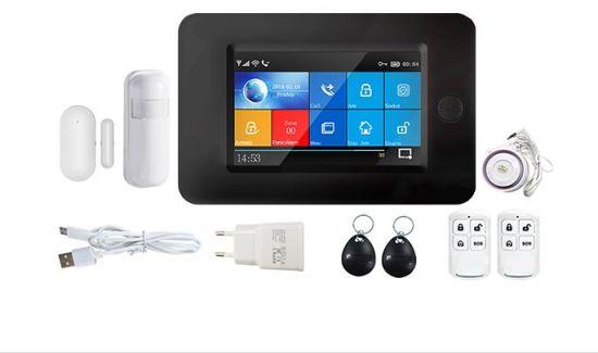 4.3 Inch Touch Screen WiFi+GSM/3G Wireless Home Security Alarm System